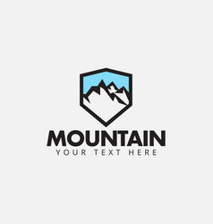 mountain logo design template isolated vector image