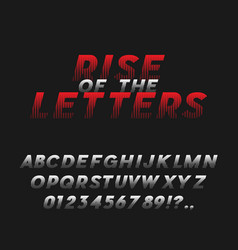 Movie poster style bold italic font typeface vector