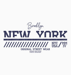 new york athletic t-shirt design brooklyn slogan vector image