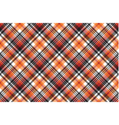 Orange plaid seamless fabric texture vector