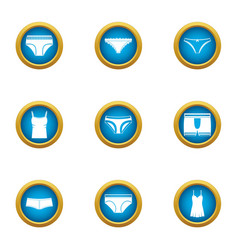 Panties icons set flat style vector