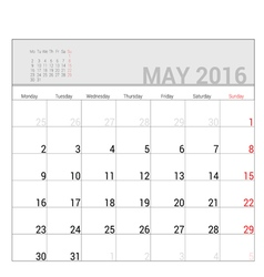 Planners for 2016 may vector