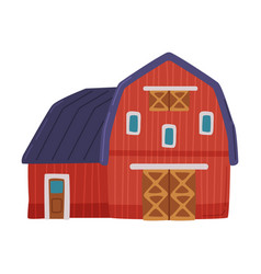 red barn traditional american agricultural rural vector image