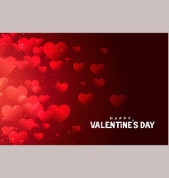 Red valentines day hearts background abstract vector