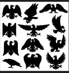 royal heraldry eagles heraldic hawk or falcon vector image