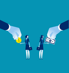 salary different for employee concept business vector image