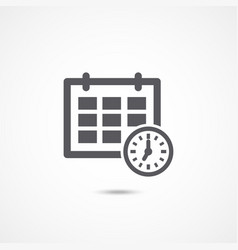 Schedule icon on white vector
