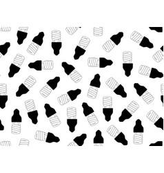 seamless light bulbs vector image vector image