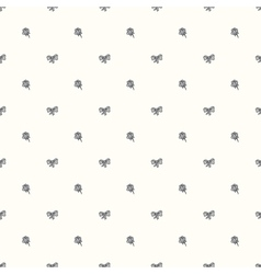 seamless retro pattern with bow tie and ro vector image