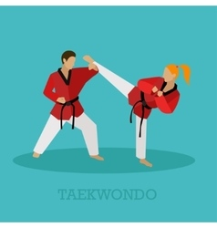 Set martial arts people silhouette vector