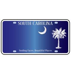 South carolina flag license plate vector