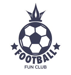 sport football club match ball and crown isolated vector image