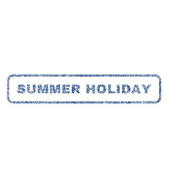 Summer holiday textile stamp vector