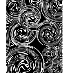 Swirling hand drawn of various black and white vector