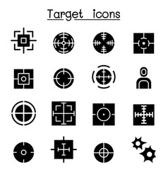 target icon set vector image