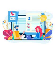 Testing for admission at work recruiting concept vector