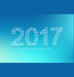 text design christmas and happy new year 2017 vector image
