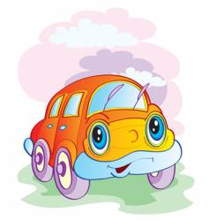 the cheerful car vector image