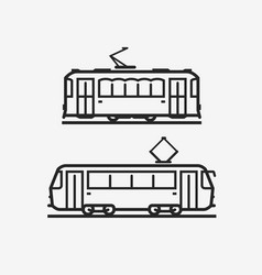 Tram icon city public transport sign vector