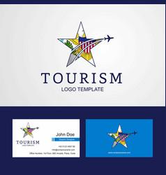 Travel virgin islands us flag creative star logo vector