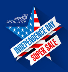 Usa independence day weekend sale banner design vector