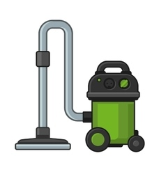 Vacuum Cleaner on White Background vector
