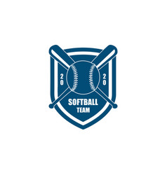 vintage retro baseball emblem badge sport club vector image