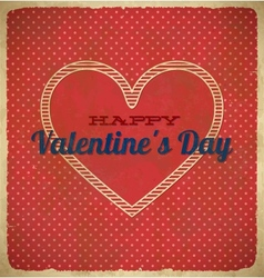 Vintage Valentines Day card with polka dots vector image