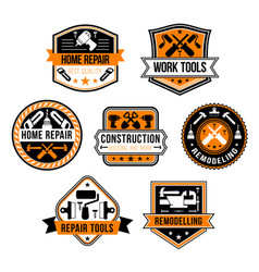 Work tools for home repair icons set vector