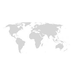 World map gray vector