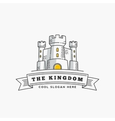 Abstract Kingdom Label Sign or Logo vector image vector image
