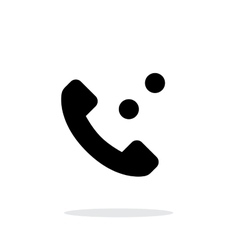 Phone call simple icon on white background vector image