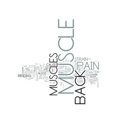 z back muscle pain text word cloud concept vector image