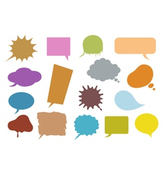 bubble speech vector image vector image