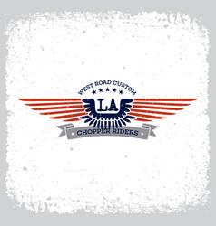 chopper riders label vector image vector image