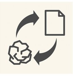 conceptual recycling paper recycle sign icon vector image