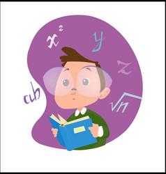 digital funny cartoon happy vector image