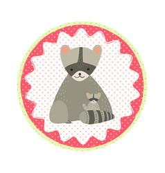 cat badge vector image vector image