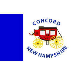 flag of concord in new hampshire usa vector image vector image