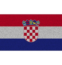 Flags Croatia on denim texture vector image vector image
