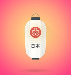flat abstract white japan lantern icon vector image vector image