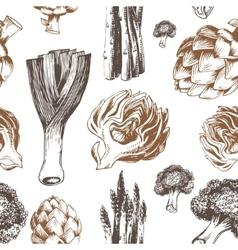 Fresh organic vegetables seamless pattern vector image vector image