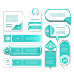 set of turquoise progress version step ic vector image vector image