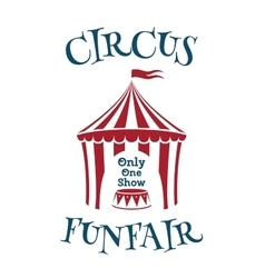 Simple template for circus funfair poster vector image
