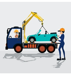 Towing service vector image vector image