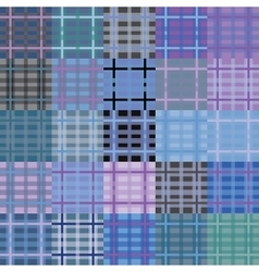 Big set of seamless tartan patterns vector image