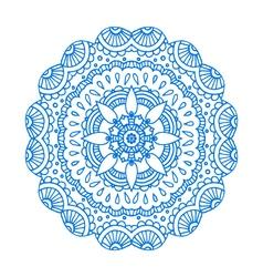 blue doodle paisley mandala hand drawn pr vector image