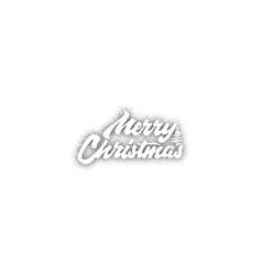merry christmas xmas badge with handwritten vector image
