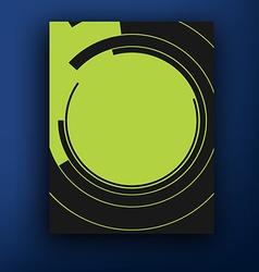 retro bauhaus and de stijl brochure booklet cover vector image vector image