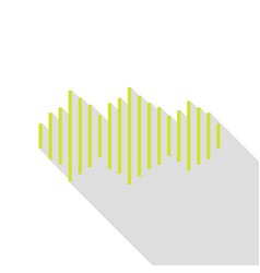 sound waves icon pear icon with flat style shadow vector image vector image